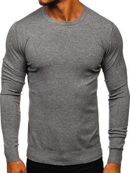 Сірий чоловічий светр Bolf YY01