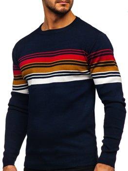 Темно-Синій чоловічий светр Bolf H2061