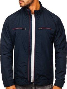 Темно-синя демісезонна чоловіча елегантна куртка Bolf 6362