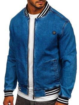 Темно-синя джинсова куртка Bolf RB9907