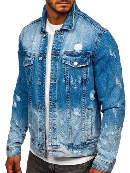 Темно-синя джинсова чоловіча куртка Bolf 6611B
