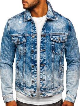 Темно-синя джинсова чоловіча куртка Bolf 6671B