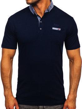 Темно-синя чоловіча футболка поло Bolf 192295