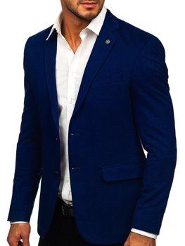 Темно-синій елегантний чоловічий піджак Bolf C191060