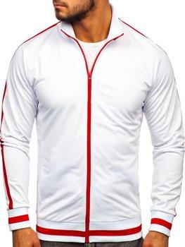 Толстовка чоловіча без капюшона ретро стиль біла Bolf 2126