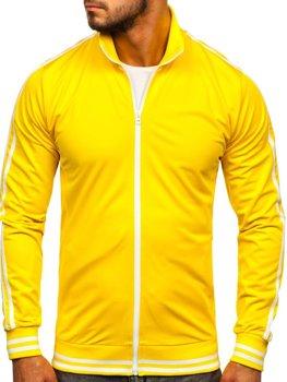 Толстовка чоловіча без капюшона ретро стиль жовта Bolf 11113