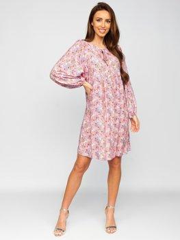 Фіолетова сукня жіноча в квіточку Bolf 3019