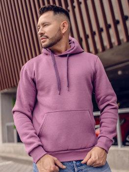 Фіолетова толстовка з капюшоном чоловіча кенгуру Bolf 1004