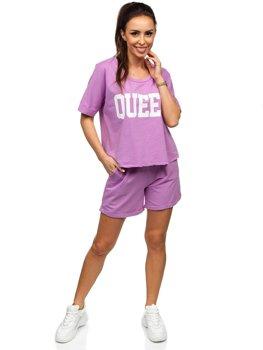 Фіолетовий жіночий спортивний комплект Bolf 7505