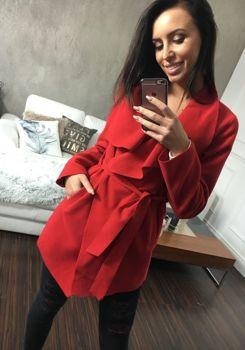 Червоне жіноче пальто Bolf 1726