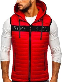 Чоловіча безрукавка з капюшоном червона Bolf 6101
