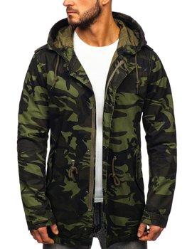 Чоловіча демісезонна куртка парка хакі Bolf 5391