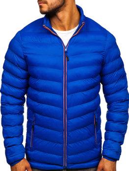 Чоловіча демісезонна спортивна куртка синя Bolf SM71