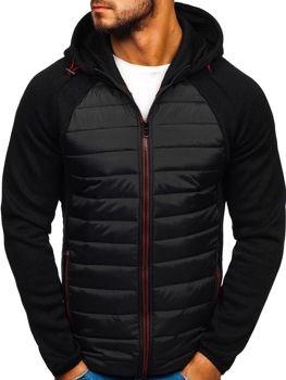 Чоловіча демісезонна спортивна куртка чорна Bolf KS1917