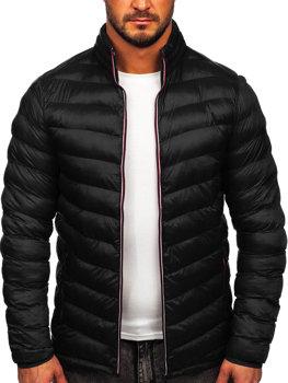 Чоловіча демісезонна спортивна куртка чорна Bolf SM71