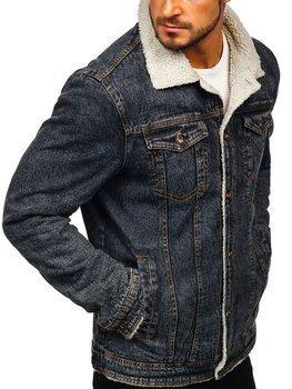 Чоловіча джинсова куртка чорна Bolf 1109