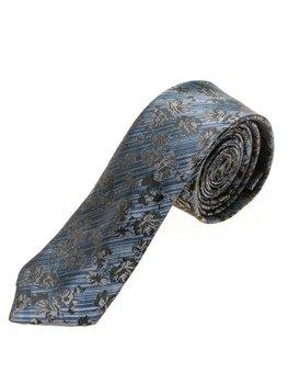 Чоловіча елегантна краватка синя Bolf K108