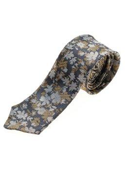 Чоловіча елегантна краватка темно-синя Bolf K109
