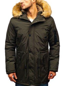 Чоловіча зимова куртка парка хакі Bolf R103