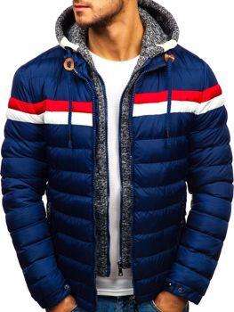 Чоловіча зимова куртка темно-синя Bolf A181 1ca0553911fd6