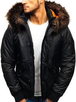 Чоловіча зимова куртка чорна Bolf 99123 0403ec456430d