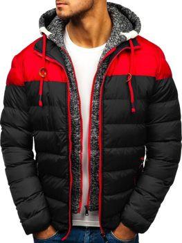Чоловіча зимова куртка чорна Bolf A131