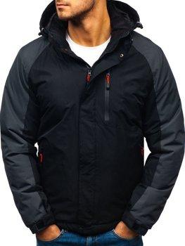 Чоловіча зимова куртка чорна Bolf HZ8102