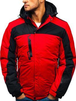 Чоловіча зимова лижна куртка червона Bolf HZ8112