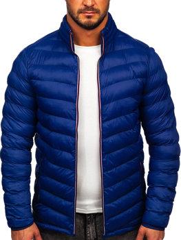 Чоловіча зимова спортивна куртка темно-синя Bolf SM71