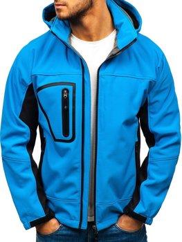 Чоловіча куртка софтшелл світло-синя Bolf T019