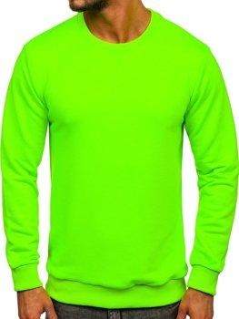 Чоловіча толстовка без капюшона зелений-неон Bolf 171715