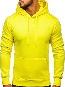 Чоловіча толстовка з капюшоном жовтий-неон Bolf 2009