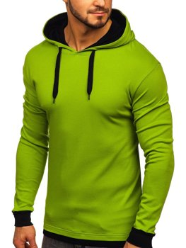 Чоловіча толстовка з капюшоном світло-зелена Bolf 145380