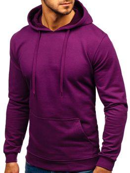 Чоловіча толстовка з капюшоном фіолетова Bolf 5361