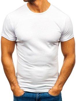 Чоловіча футболка без принта біла Bolf 0001
