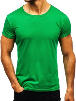 Чоловіча футболка без принта зелена Bolf AK999A