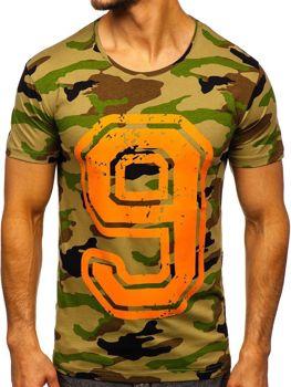 Чоловіча футболка з принтом мультиколор Bolf 2101C
