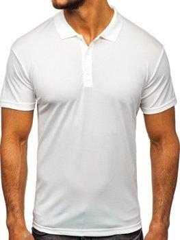 Чоловіча футболка поло біла Bolf HS2005 2f08063243291