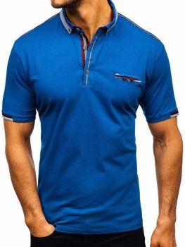 Чоловіча футболка поло темно-синя Bolf 192034