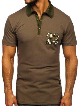 Чоловіча футболка поло хакі Bolf 2058