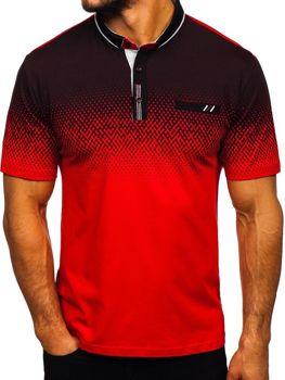 Чоловіча футболка поло червона Bolf 6599-1