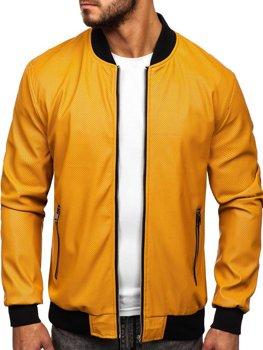 Чоловіча шкіряна куртка кемел Bolf 6125