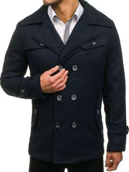 Чоловіче зимове пальто темно-синє Bolf EX906