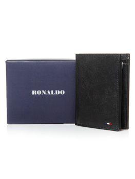 Чоловічий гаманець шкіряний чорний 3079
