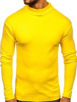 Чоловічий гольф без принта жовтий Bolf 145347