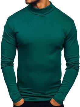 Чоловічий гольф без принта зелений Bolf 145347