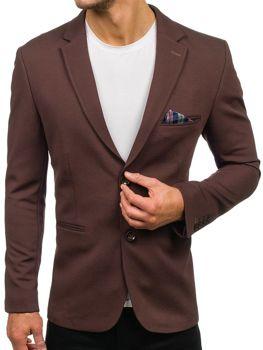 Чоловічий елегантний піджак коричневий Bolf 218