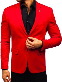 Чоловічий елегантний піджак червоний Bolf 191060
