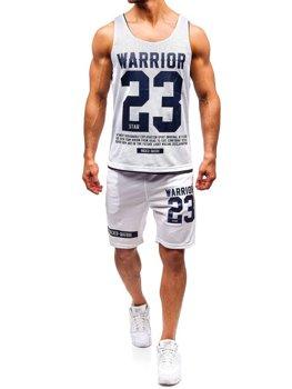 Чоловічий комплект футболка + шорти Bolf білий 100778