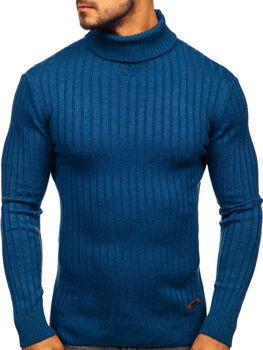 Чоловічий светр гольф синій Bolf 3070